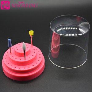 1 Set 48 Fori (2,35 mm) bit Nail Drill supporto del basamento la scatola di contenitore dell'organizzatore manicure strumento di grandi dimensioni 78 * 88 millimetri