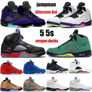 New Jumpman 5 5s OG Mens Mulheres Basquetebol Shoes Alternate Bel Grape Top 3 Travis Scotts Triple Black Oil Cinza Sapatilhas reflexivas