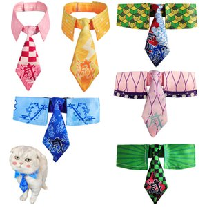 Demon Slayer Kimetsu no Yaiba Nezuko Zenitsu Giyuu Cosplay Cat Bowtie Bibs Mini Dog Cat Tie NecktiePet Supplies Necklace Props