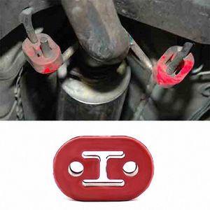 4pcs Universal Car silencieux d'échappement Support caoutchouc 2 trous 12mm échappement Hanger VS998 4aLK #