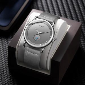 Onola Marca Masculina Moda Moda Reloj de cuarzo Nuevo Reloj de cuero simple impermeable Reloj redondo Dos agujas Reloj de hombre deportivo