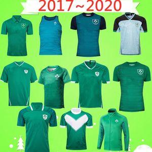 Copa do Mundo 2017 2020 campeão da Irlanda Rugby League camisa da equipe nacional de rugby casa Tribunal Longe retro jogo verde League camisa POLO jaqueta colete