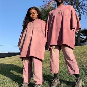 Beste Qualität Kanye West Heiligen Geist gedruckte Frauen-Männer-Rot-T-Shirt Hiphop Street Men Casual Cotton Maxi-T-Shirt 0924