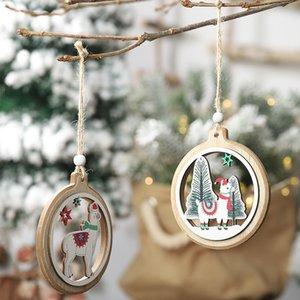 Navidad 2020 Navidad de madera del árbol de Navidad colgante de alpaca ornamentos colgantes Decoración de Navidad por Home Productos Accesorios de Navidad