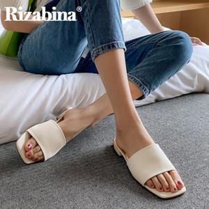 Rizabina Sommer-Sandelholz-Schuhe für Damen Fashion Square Low Heels Pantoffeln Solide Schuhe Women Casual Lady Schuhe Sizez 34-39