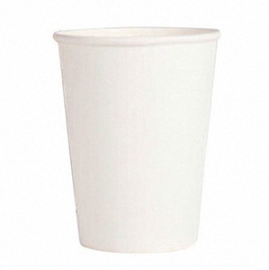 20 Paper Cups (9oz) - Plain Solid Colours Birthday Party Tableware Catering (white) QdVN#