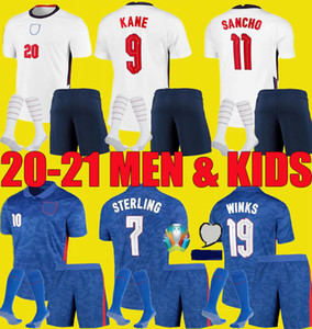 2020 2021 kane maillots de football STERLING SANCHO hommes enfants kits 20 21 Rashford DELE inglaterra chemisettes de Fútbol chemises de football ensemble uniforme