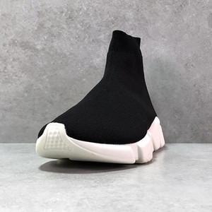 париж Носок Обувь Casual обуви Speed Trainer высокого качества кроссовки Speed Trainer Носок гонки Бегуны черные туфли hococal Белый обуви