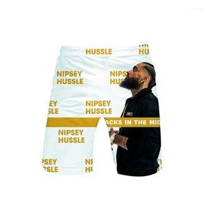 Shorts Mens 3D Designer Shorts Pants Casual Beach Holiday American Rapper Shorts nipsey hussle Summer