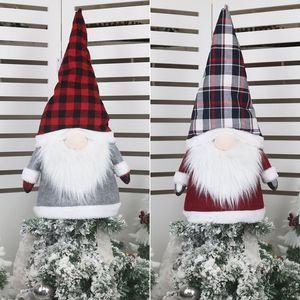Grande Gnome da árvore de Natal do chapéu de coco enfeites 25 polegadas Grande de Santa Gnomes Plush Scandinavian Detalhes no JK2008XB
