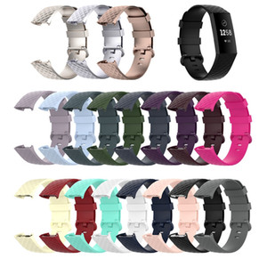 Luxe BRACELET Pour Fitbit Charge 4 Mode extérieur doux remplacement bande de silicone pour Fitbit Charge 3 SE Bracelet Bracelet Bandeaux