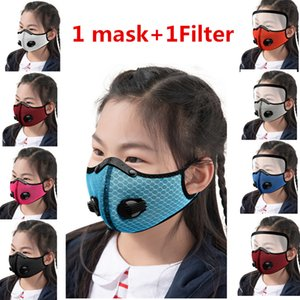 Children Cycling Face Mask Activated carbon Face Masks Anti-fog Windproof Dust-proof Breathable Sunscreen kids Sports Face Masks GWB1922