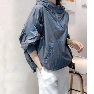 Nouveau pull avec capuche mince Vêtements pour femmes camping en plein air Petit Voyage Mode de style occidental réduisant l'âge Sunscreen T-shirt
