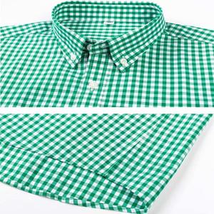 High-end long sleeve 100% cotton plaid fashion casual free shipping men's pink shirt men 200925