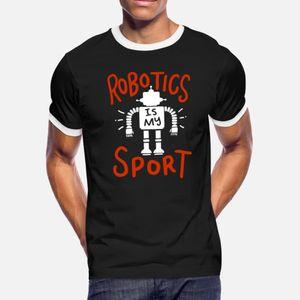 Roboter Robotics Automation Ki Gift T-Shirt Männer schaffen T-Shirt-Größe S-3XL Freizeit Sonnenlicht Gebäude Frühling Normale Hemd