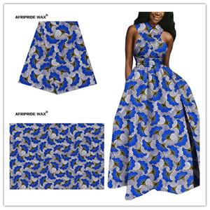 2021 Tela Ankara africana Alta calidad al por mayor Flor africana 100% algodón Tela de brocado real para ropa A18F0497