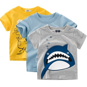 Toddler Infant Baby Summer T Shirt Crown Print Short Sleeve Baby T-shirts Cotton Children T-shirt O-neck Tee Tops Boy Clothes