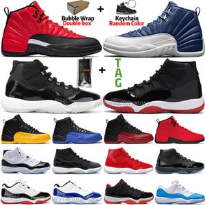 11 11s 25 Aniversario Bred Concord 45 Zapatos atasco del espacio gimnasia hombres rojos de baloncesto 12 12s Indigo Juego Real gripe inversa Juego FIBA para hombre de las zapatillas de deporte