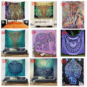 150*130cm Tapestry Wall Hanging Indian Mandala Bohemian Tapestry Hippie Tapestry polyester Wall Decor Dorm Decor KKA4499