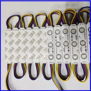SANAN CHIP RVB SMD 5050 3 LED Ultrasonic Injection Lentille LED Module 12V étanche IP65 LED String Rope Rope
