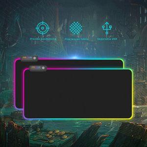 2020 New RGB Gaming Mousepad 7 Colors Large LED Lighting Mouse Pad Dragon Pattern Gaming Desk Pad Natural Rubber Keyboard Mat
