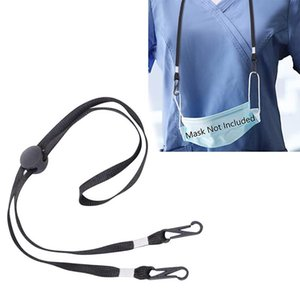 Black Grey Color Adjustable Face Mask Extension Lanyard for Adult Kids Safety Mask Clip Holder Hanging Neck No More Lost Dropped Masks KA050