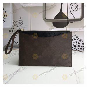 Sac d'embrayage d'enveloppe pour hommes en cuir dames d'embrayage Casual Porte-monnaie Voyage Sac cosmétique Sac cadeau Livraison gratuite LC