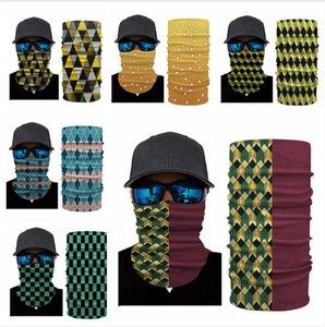 Sihirli bandanas 3D Dijital Baskı Çizgili Ekose Yüz Maskeleri Baş Eşarplar Güneş Koruyucu Spor Outdoor Bisiklet Boyun Wrap Kafa LJJP374 Maske