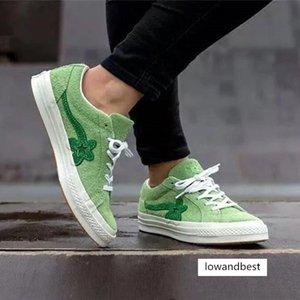 New Criador Golf Le Fleur Um Estrelas OX TTC lona sapatos plataforma Tyler Trending Mens Trainers Homens Mulher Causal Sports Sneaker