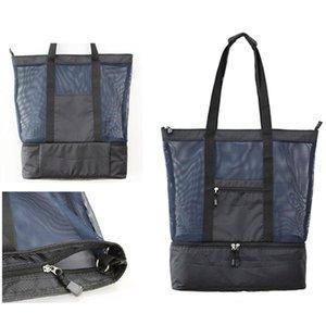 New-Lunch Tasche Strand-Tasche Picknick Camping Isolierung Mesh-Spielraum-Speicher-Organisator-Handtaschen