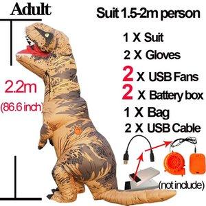 دينو T ريكس الديناصور نفخ الكبار حلي تأثيري ازياء تفجير الديناصور زي هالوين ازياء للاطفال المرأة CX200817