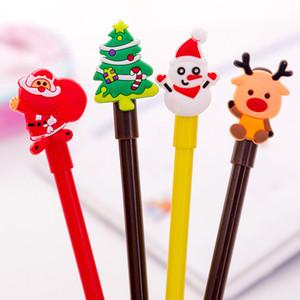 Öğrenci Yaratıcı Karikatür Kalem Siyah 0.38 Büro Okul İmza Kırtasiye Noel Hediye DHA1111 için DHL Kargo Plastik Noel Jel Kalemler