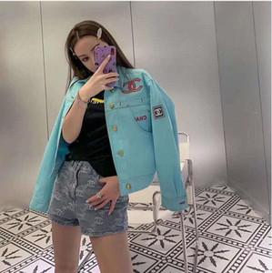 design de produto novo do início do outono alfabeto nova indústria pesada Outono mulheres bordar Han Canção estudantes do sexo feminino casaco curto