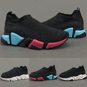 Men Speed Training Shoes Black Low-Top Knit Casual Sneakers Women Fashion Paris Outdoor Lightweight Stretch Shoes