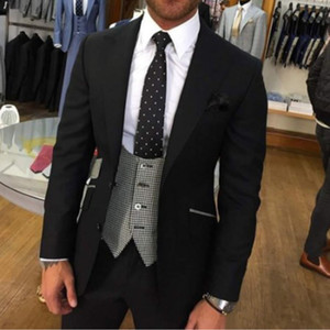 Custom Made 3 pieces Wedding Suits For Mens Formal Suit Blazer Costume Homme Mariage Terno Masculino Slim Fit Groomsmen