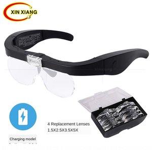 7K0vb USB aufladbare Maniküre Wartung Objektivgläser Typ Vier-Gruppen-Mehrfachlinsen Lesen und Wartung Schönheit Nagelstickkopf-m
