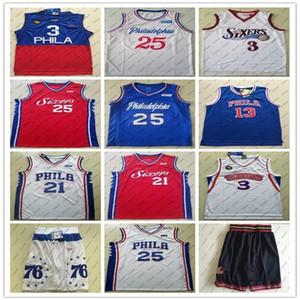 2020 hommes 76erscrême Philadelphia21 EmbiID 25 Simmons 3 Iverson High School Joel Ben Allen Jersey College Basketball City Jerseys 02