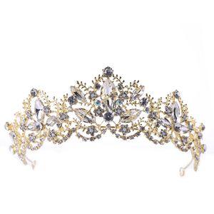 Корона барокко Кристалл Долговечность цвета Retention фирма по охране окружающей среды Нет повреждений кожи Люкс Headwear Корона Свадебные аксессуары B