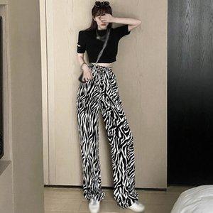 ETOSELL Frauen Camouflage-Hosen mit hoher Taille Hose-beiläufige Fußboden lange Hosen Drucken Hohe Qualität