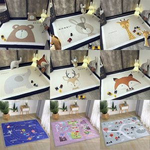 Animals Deer Elephant Fox Bear Giraffe Anti-skid Baby Play Mats Blanket Kids Carpet Nordic Style Room Home Decor Photo Props LJ200818