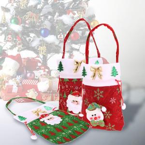Новый год рождественский подарок мешок Санта-Клаус Детские конфеты подарочные пакеты сумки мешок венчания мешок Present мешок Новогоднее украшение Симпатичные Санта