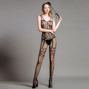 uniforme sexy seducente calze tuta sexy sling jacquard calze aperte pigiama tuta biancheria intima Sling