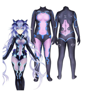 Anime Game Hiperdimension Neptunia Cosplay Costume Halloween 3D-printing Tights Jumpsuits Zentai Suits Female Girls Costumes