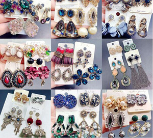 10Pairs lot Mix Style Fashion Stud Earrings Nail For Gift Craft Jewelry Earring EA013 Free Shipping