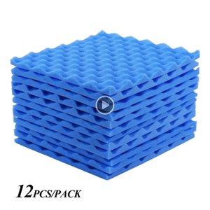 12шт Звукоизоляция пена Студия Acoustic пенопластов, панели Wees 30x30cm Звукоизолированного Asorption Лечение Группа Kevin