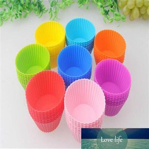 8 colors Round shape Silicone Muffin Cupcake 7CM Mould Bakeware Maker Mold Tray Baking Cup Liner Baking Molds RC8303