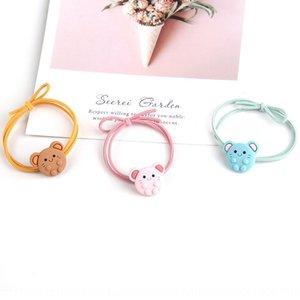 Nuovo stile coreano di gomma per capelli carino cartoon band capelli corda gioielli piccolo testa di animale corda pantaloni a vita bassa Elastico GxG0V