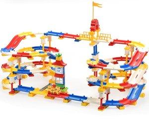 Circular Building Particules Track Play Track Agrandir des briques Blocs divers Auto-assemblage 245pcs Set Styles Construire Interchange coloré Wxec