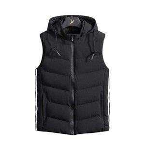 High Quality Autumn Mens Winter Down Jackets Mens Parka Vest Solid Casual Sleeveless Jacket Cotton Padded Waist Coat Lightweight Bodywarmer