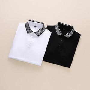 2020 Luxus-Europa Parigi Patchwork Männer-T-shirt-Mode-Männer Designer-T-shirt Casual Uomo Kleidung Meduse cotone tee luxus-polo